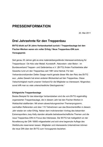 Drei Jahrzehnte für den Treppenbau - Bundesverband Treppen ...