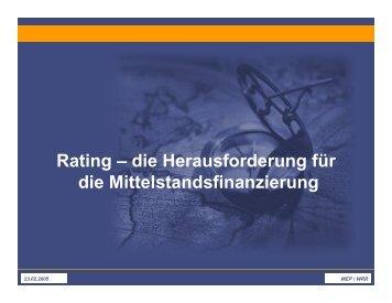 Rating - WEP Rheinische Treuhand