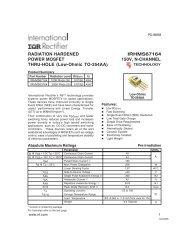 RADIATION HARDENED IRHMS67164 POWER MOSFET 150V, N ...