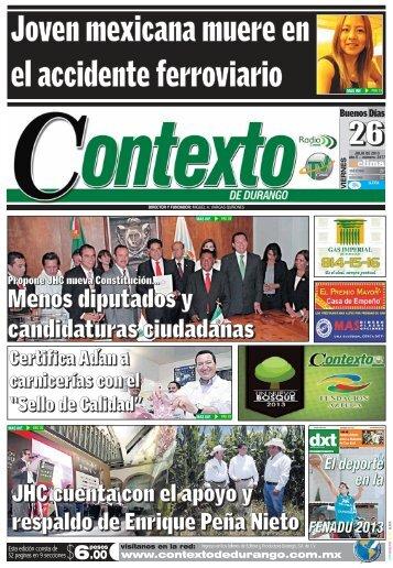 26/07/2013 - Contexto de Durango