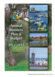 Annual Business Plan and Budget 2011-2012 - City of Port Adelaide ...