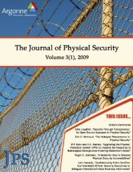 The Journal of Physical Security - Vol. 3(1), 2009