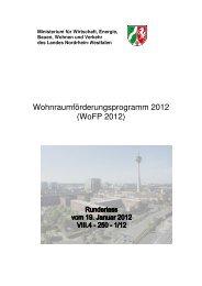 Wohnraumförderungsprogramm 2012 - Wohnprojekte Portal