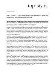 top of styria 2012: Die Top 100 knacken die 30-Milliarden Marke und ...