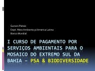 Biodiversidade e PSA