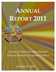 BIE Advisory Board for Exceptional Children - Bureau of Indian ...
