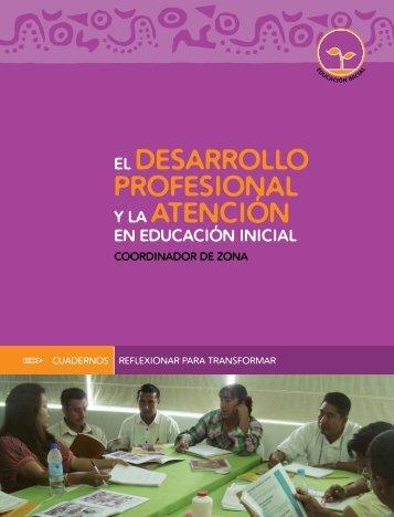 El desarrollo profesional y la atención en ... - conafe.edu.mx