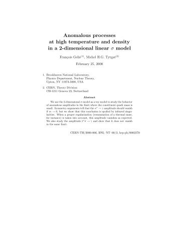 Anomalous processes at high temperature and density in a 2 ...
