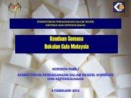 Keadaan Semasa Bekalan Gula Malaysia - Akademi Sains Malaysia