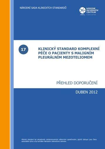 Přehled doporučení - Česká pneumologická a ftizeologická ...