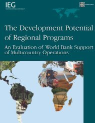 The Development Potential of Regional Programs The ... - World Bank