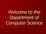 Welcome to the Department of Computer Science