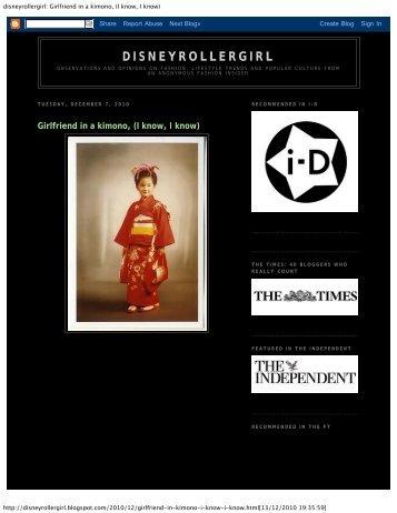 disneyrollergirl: Girlfriend in a kimono, (I know, I know) - Beautiful Soul