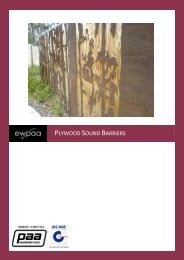 Plywood for Sound Barriers - ewpaa