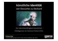 künstliche Identität - Wolfgang B. Ruge