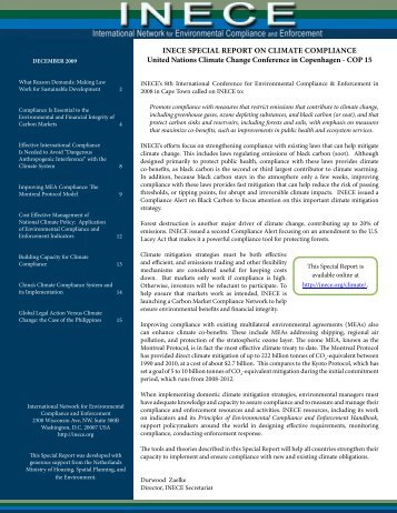 Special Report on Climate Compliance - Inece