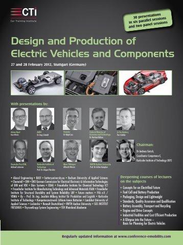 und E-Fahrzeugen sowie deren Komponenten vorgestellt werden.
