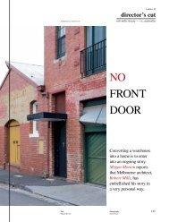 No froNt door - Robert Mills Architects