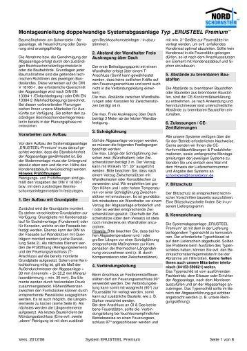 Montageanleitung ERUSTEEL Premium - Hansebeton