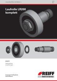 Laufrolle LR200 komplett - REIFF Technische Produkte