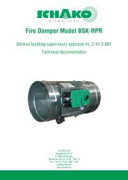 Fire Damper Model BSK-RPR - Schako