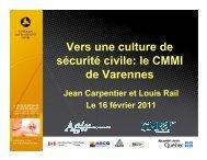 Présentation au colloque sur la sécurité civile - Ministère de la ...