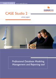 Database design tool - CASE Studio 2 - CHARONWARE s.r.o.