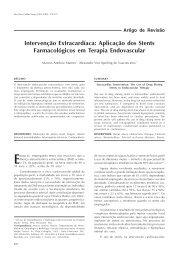 Intervenção Extracardíaca: Aplicação dos Stents Farmacológicos ...