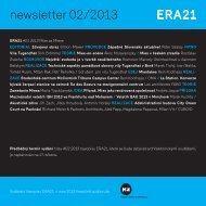 newsletter 02/2013 - Era21