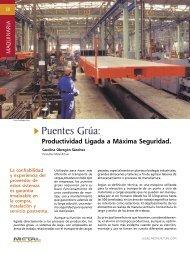 Maquinaria - Puentes Grua - Revista Metal Actual
