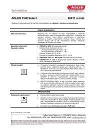 ADLER PUR Select 26011 a násl. - ADLER - Lacke