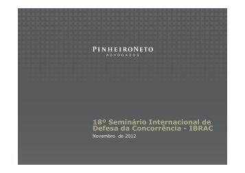 18º Seminário Internacional de Defesa da Concorrência - IBRAC