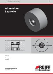 aluminium Laufrolle - REIFF Technische Produkte
