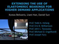 Expanding the Use of Elastomeric Bearings for Higher Demand ...
