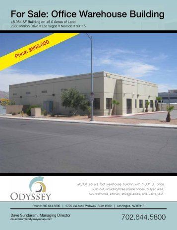 For Sale: Office Warehouse Building - Property Line