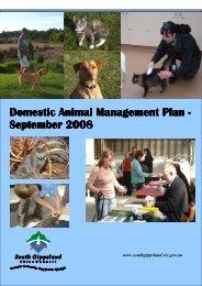 Domestic Animal Management Plan Domestic Animal Management