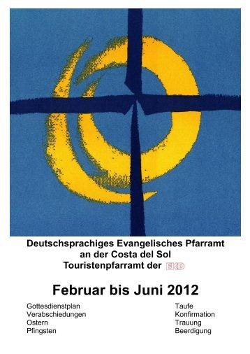Infobrief - Deutschsprachiges Evangelisches Pfarramt an der Costa ...