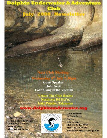 Dolphin Underwater & Adventure Club July 2008 Newsletter