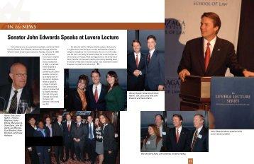 Senator John Edwards Speaks at Luvera Lecture - ZagsOnline.org