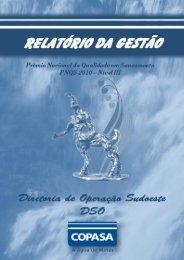 COPASA - Prêmio Nacional da Qualidade em Saneamento