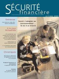 octobre 2000 - Vol. 25 - No 5 - Chambre de la sécurité financière