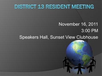 District 13 Resident Meeting - Sun City Palm Desert Community ...