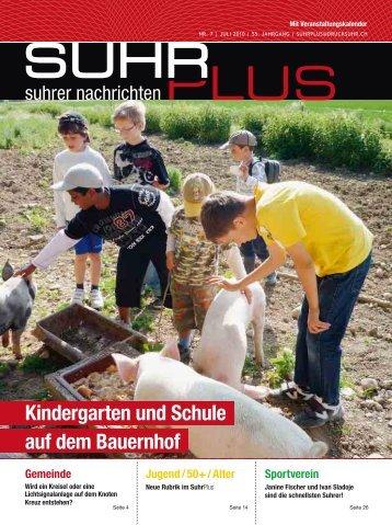 Kindergarten und Schule auf dem Bauernhof