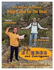 Bible Camp for the Deaf - Deaf Missions