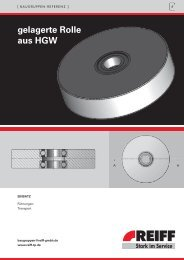 gelagerte Rolle aus HGW - REIFF Technische Produkte