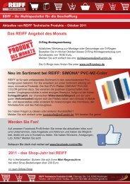 Neu im Sortiment bei REIFF - REIFF Technische Produkte