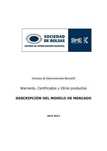 Estilo para libros - Bolsa de Madrid