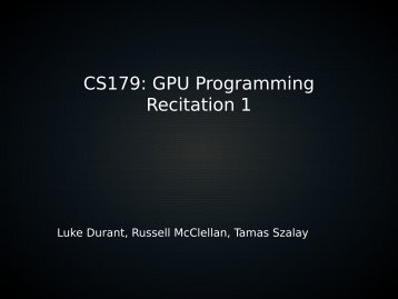recitation slides. - Caltech