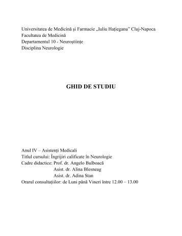 GHID DE STUDIU - UMF