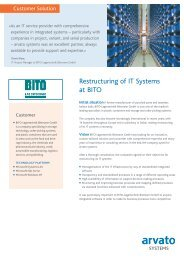 Customer Solutions - arvato Systems